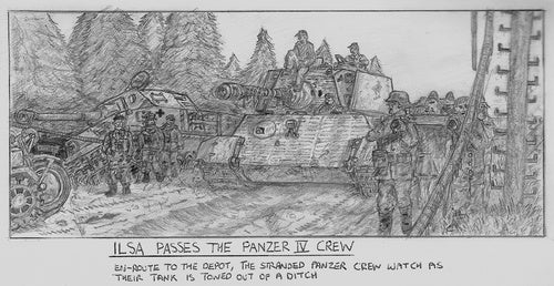 Black And White Sketches For Panzer 88