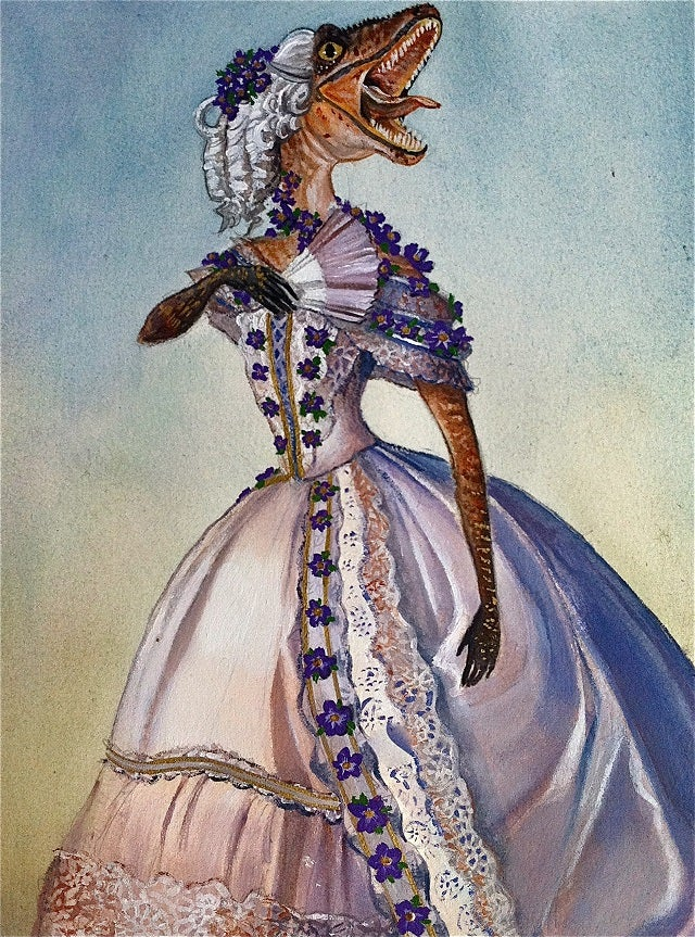 What if velociraptors survived into the Victorian era?