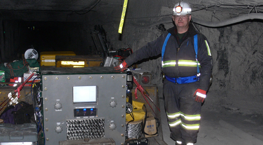 Radio-Style System of Communication Via Magnetic Waves Demonstrated in Deep Mines