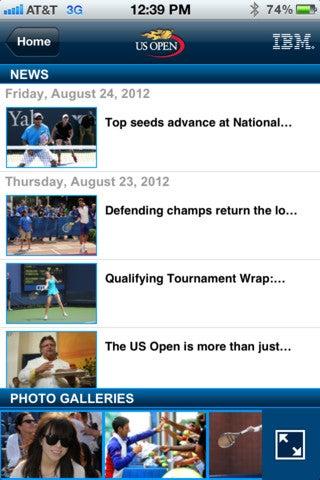 U.S Open App Gallery