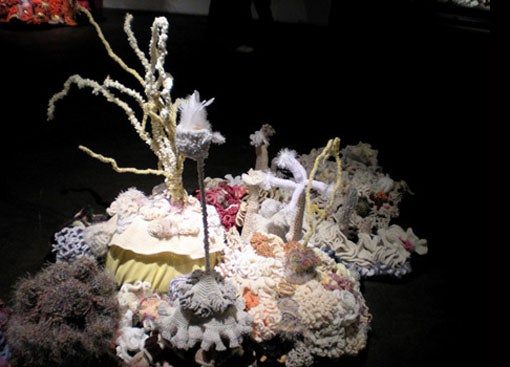 The Weird Surfaces Of Undersea Life, In Crochet And Plastic Trash