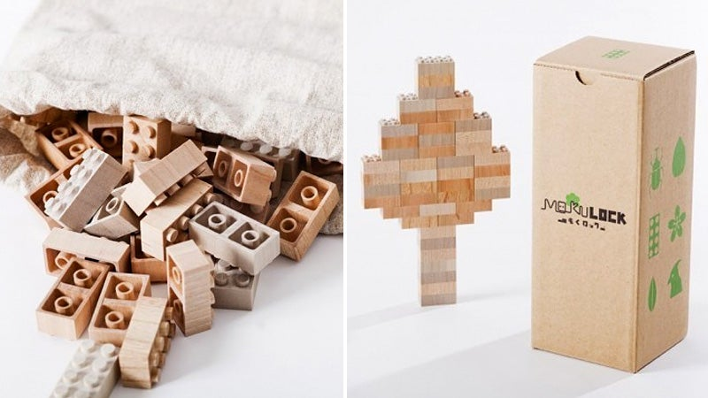 Wooden Bricks Finally Let You Build That Authentic Lego Log Cabin