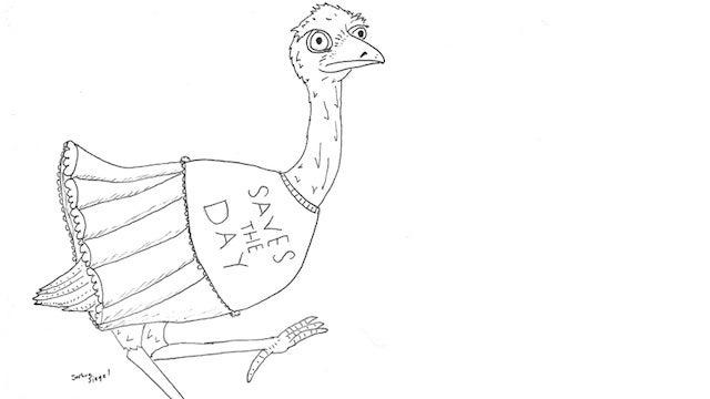 An Emo Emu Rocks A Frou-Frou Tutu