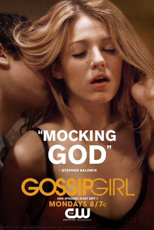 Stephen Baldwin Provides New Religious Tag Line for Gossip Girl Posters