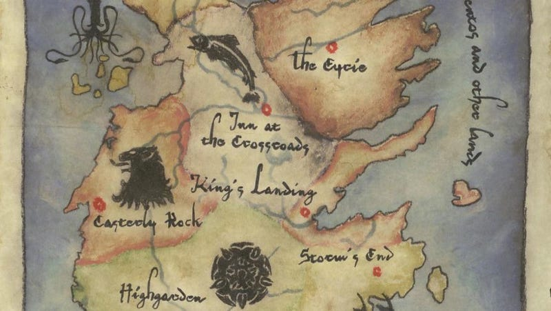 Explore the 7 kingdoms of Westeros in HBO's Game Of Thrones map