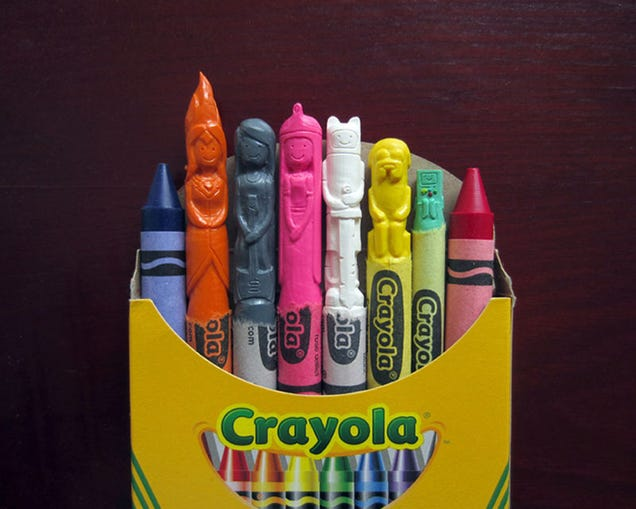 I want to eat all these neat Crayola sculptures of famous characters