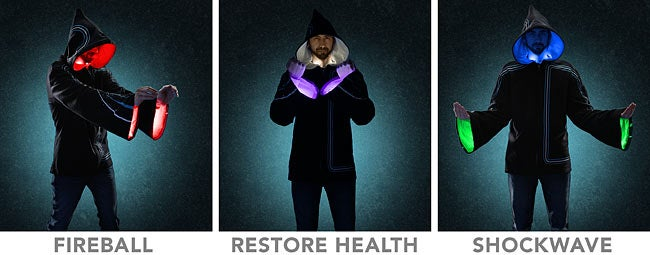 Light-up wizard hoodie transforms its wearer into a Technomancer