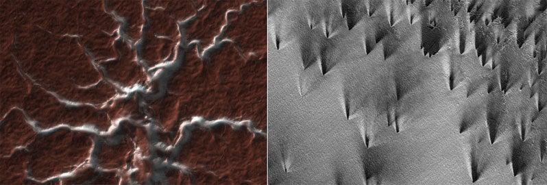 Martian Spiders Launch Dark Jets
