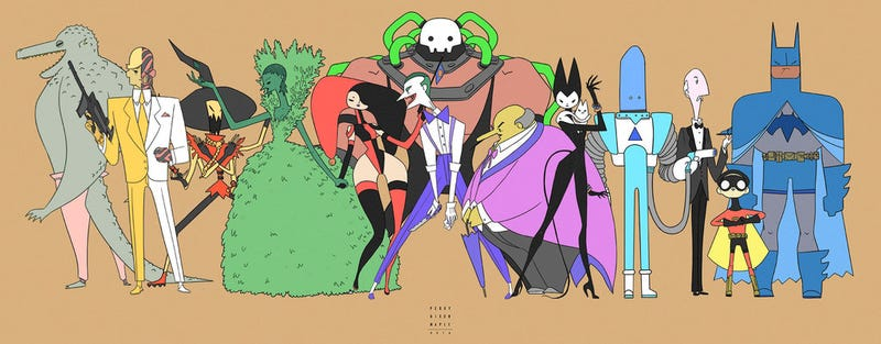 We would love a cartoon featuring these theatrical Batman redesigns