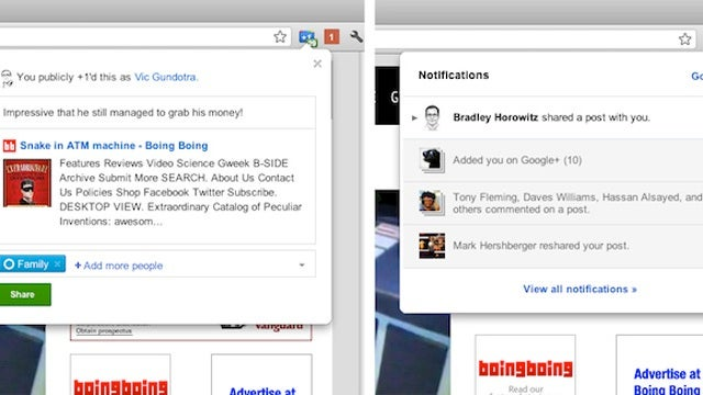 Google Adds Two Official Google+ Extensions for Chrome and YouTube Integration