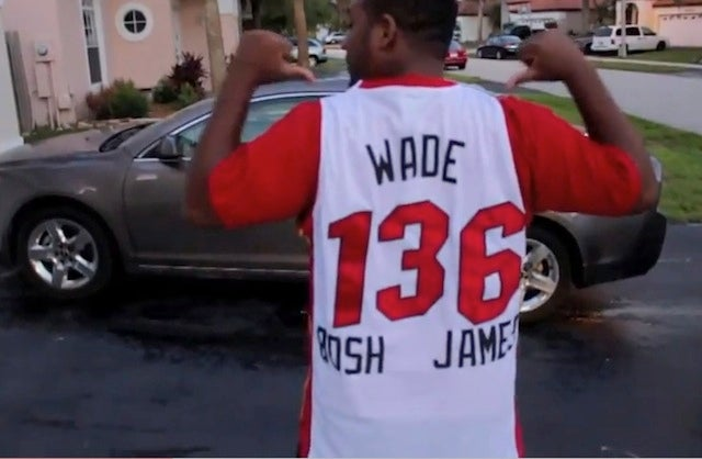 And Now A Picture Of The Worst Custom Heat Jersey Ever Made