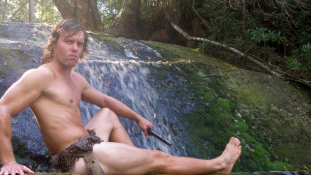 Mostly naked South African man training to become real-life Tarzan
