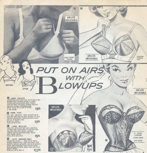 Inflatable Bra: Avoid Sharp And Pointy Objects