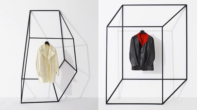 Geometric Coat Racks Play Tricks on Your Eyes