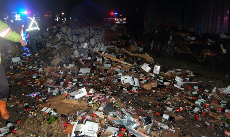 Tragedy Strikes Canada as Giant Wine Spill Shuts Down Major Highway