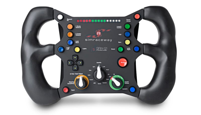 How Many Buttons Does a Pedal-Free PC Racing Controller Need? This Many