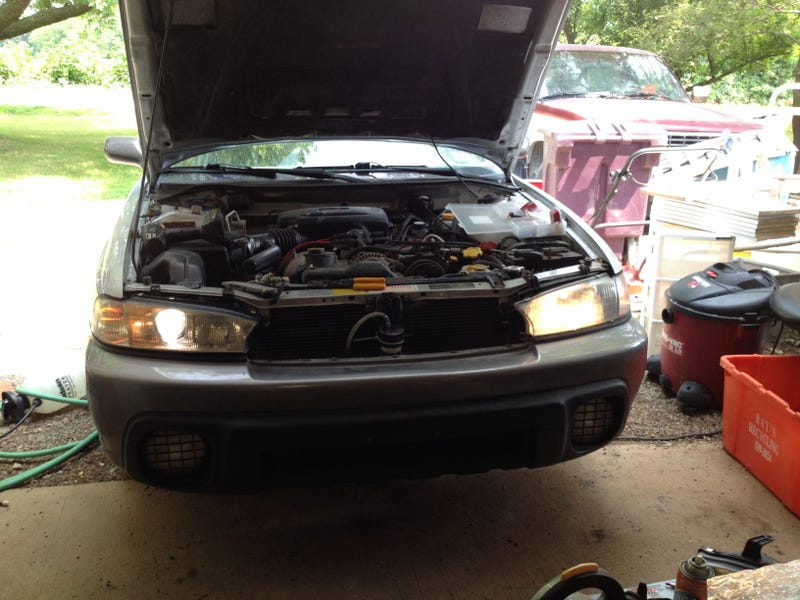 1999 Subaru Legacy Outback JDM Projector Headlight Install Condensed