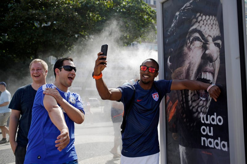 People In Rio Are Doing Funny Things With A Luis Suárez Billboard