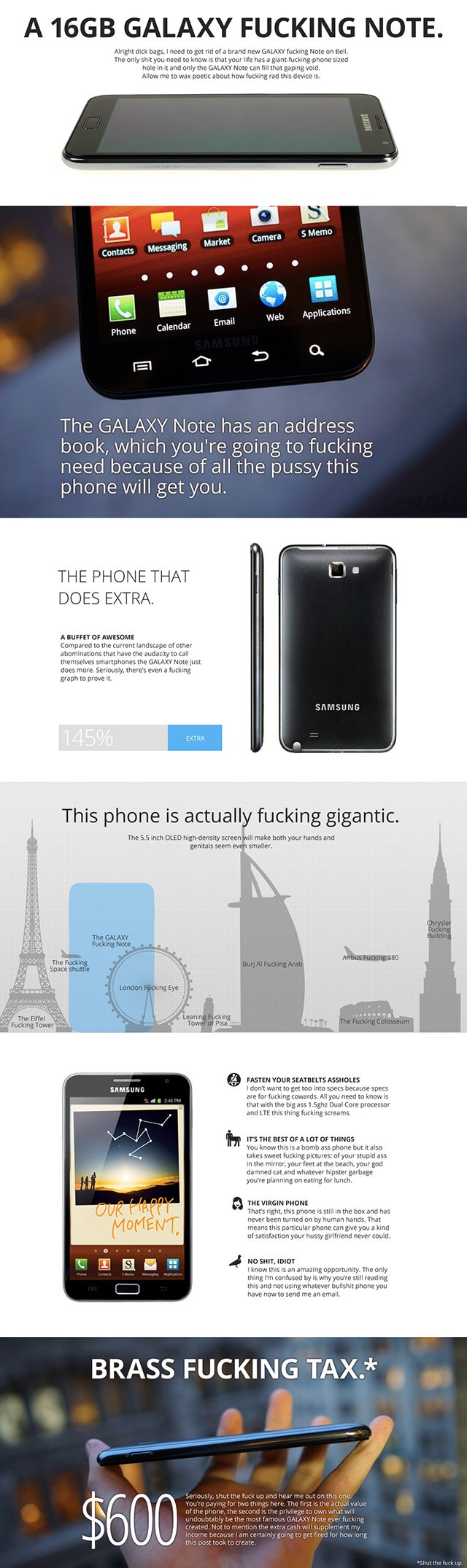 The Best F*cking Ad Ever for the Samsung Galaxy F*cking Note