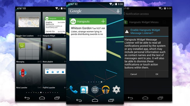 Hangouts Widget Puts Your Messages on Your Home Screen