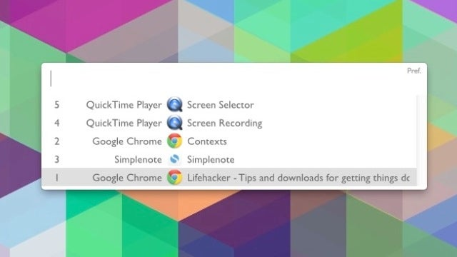 Contexts Simplifies Window Switching in OS X