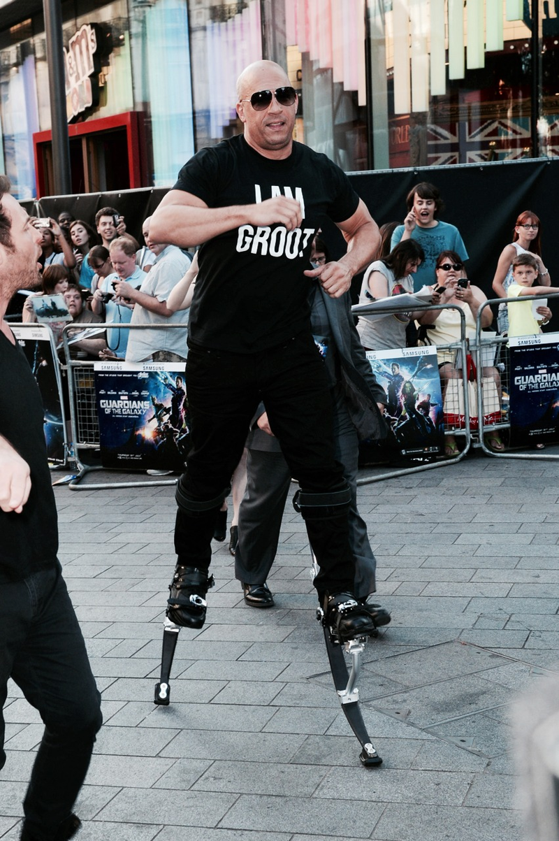 Vin Diesel Wears Stilts and T-Shirt to Premiere, Is Awesome