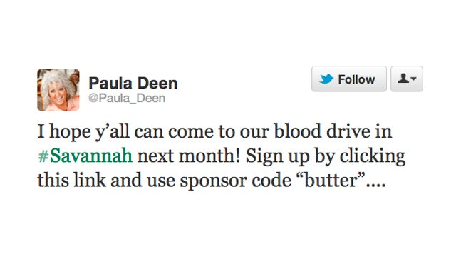 Paula Deen Hosts a Butter Blood Drive