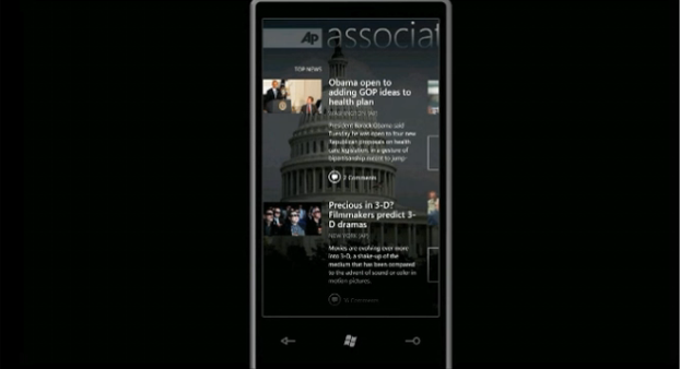 Windows Phone 7 Apps: First Video