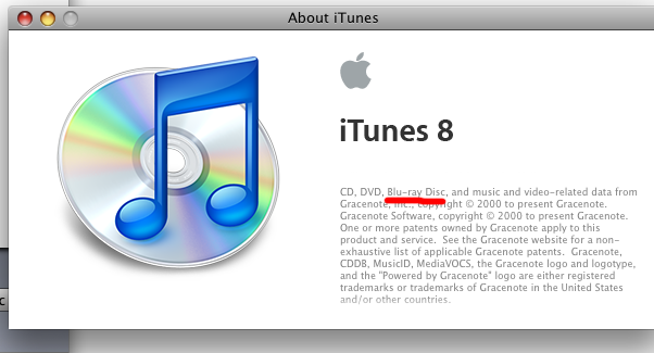 iTunes 8.2 May Point to Blu-ray on Macs