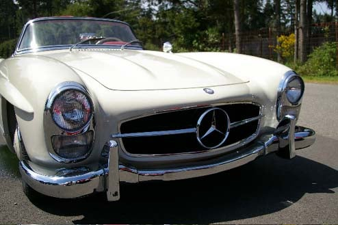 Perfect 1954 Mercedes-Benz 300SL Heads For The Race Track