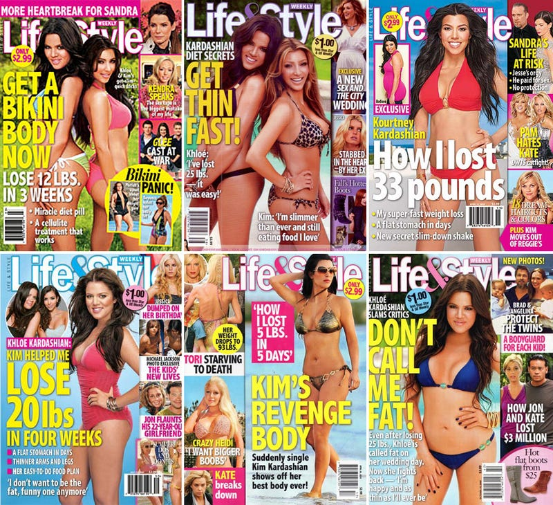 The Kardashian Bikini Paradox: Famously Large Asses Perpetually Losing Weight