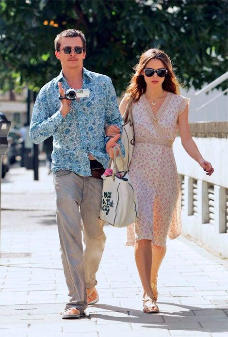 Keira & Rupert's Matching Anya Hindmarch Bags