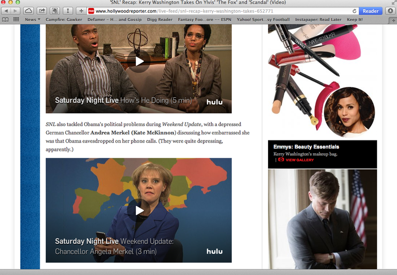 The Hollywood Reporter Doesn't Know Who The German Chancellor Is