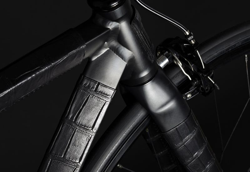 This Luxurious Stealth Bicycle Is Clad in Crocodile Skin