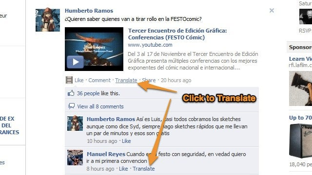Facebook Now Translates Posts and Comments Not In Your Native Language
