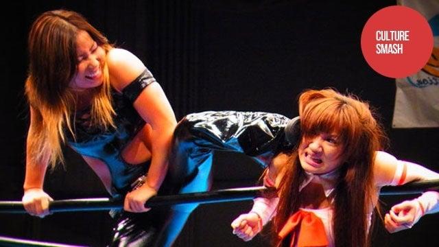 Cosplaying Female Wrestler Body-Slammed with Death Threats