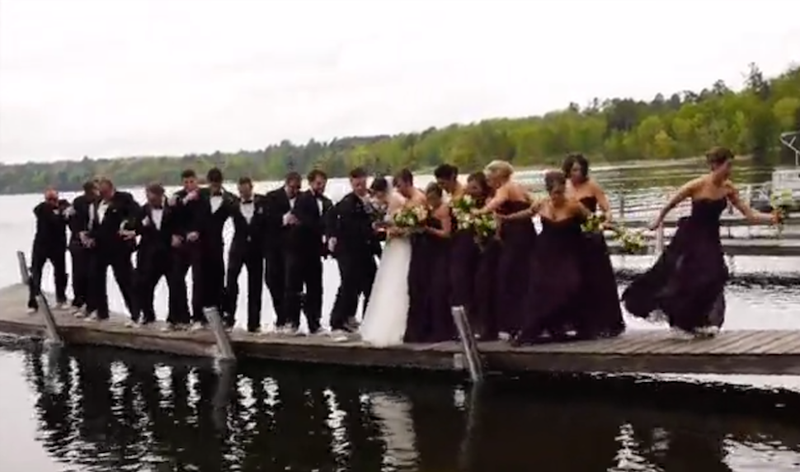 Entire Wedding Party Falls In a Lake Trying to Get That Perfect Shot