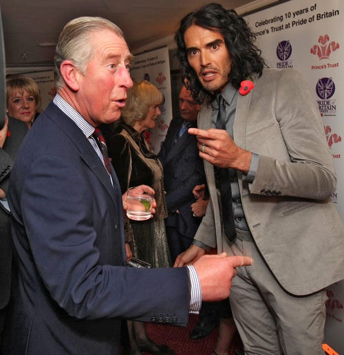 Prince Charles and Russell Brand Swap Obscene Phone Call Tips