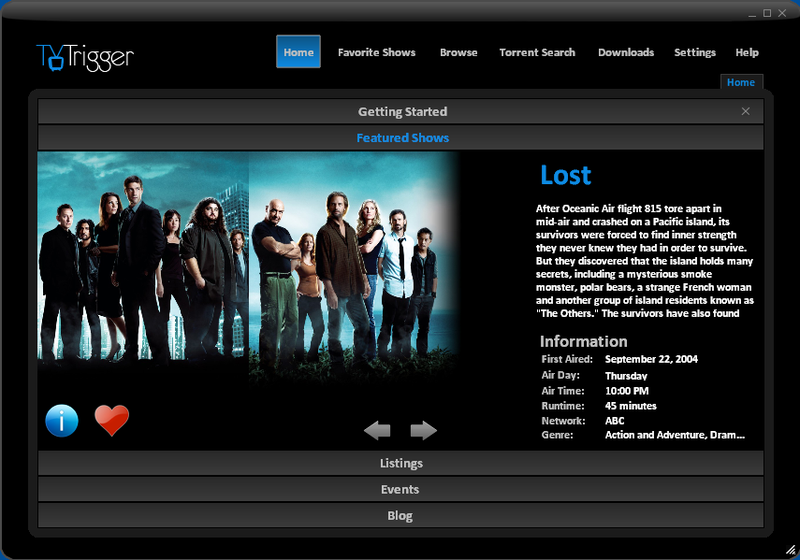 TVTrigger Integrates Television and BitTorrent into One Lovable Package