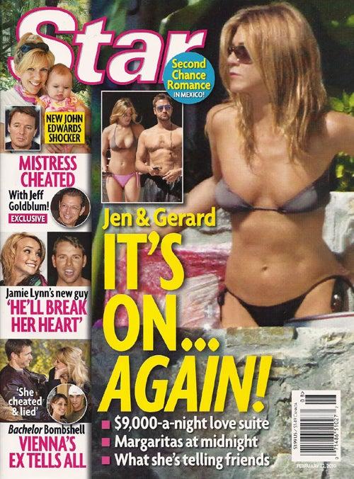 This Week In Tabloids: Brad & Angie Fake It While Jen & Gerard Make It