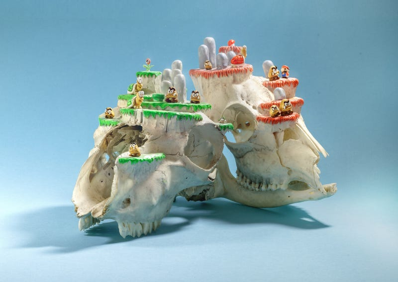 Mario Levels Made Out Of Real Animal Skulls. Creepy.