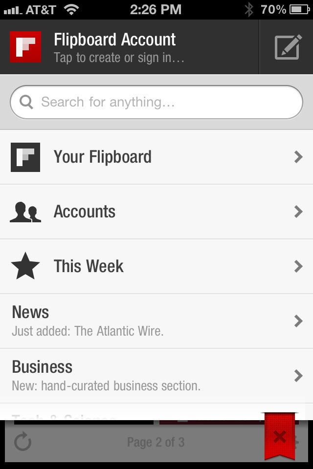 Flipboard for iPhone Gallery