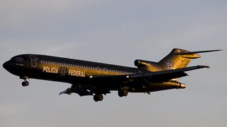 The Mexican Federales have this cool B727-200