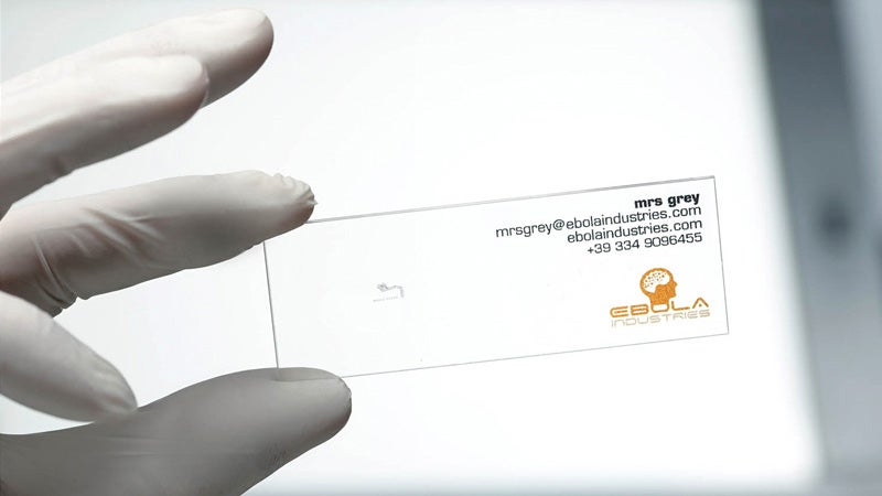 You'll Need a Microscope To Read the Fine Print on These Business Cards