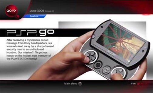 Qore Lets Slip the First Look at PSP Go