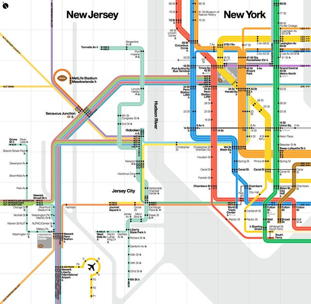 A New York City Transit Map Custom-Made for the Super Bowl