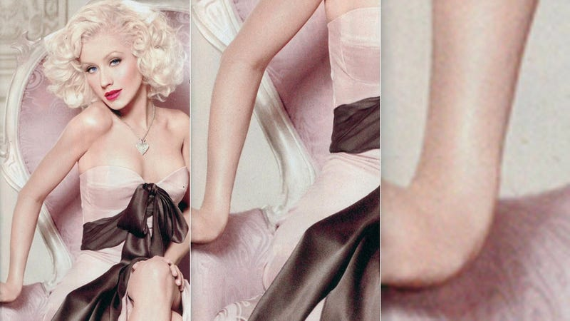 Christina Aguilera's Bones Mangled in Terrible Photoshop Incident