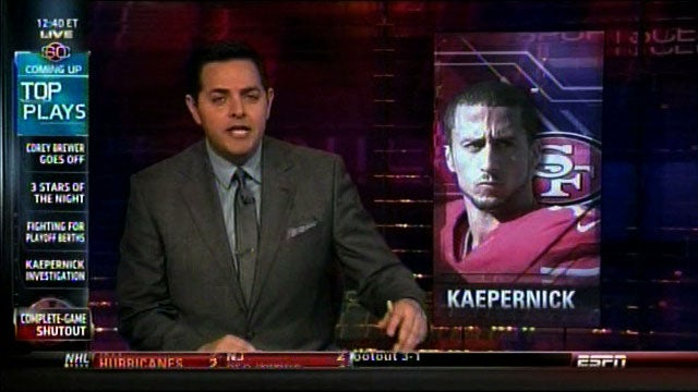 "ESPN Uses ""Street Clothes"" Photo Of Kaepernick, Then Decides Otherwise"