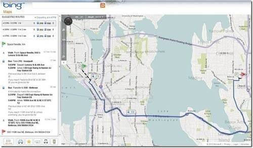 Bing Maps Experiences Major Delays En Route to Transit Direction Party