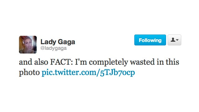Is This the Face of a Wasted Gaga?